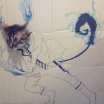 o gato cosplayer