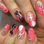 nail art de gatos