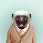 retratos no zoológico